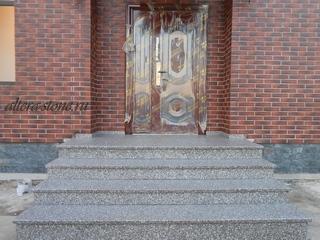 Лестница из гранита BRAIN_BROOK_BROWN